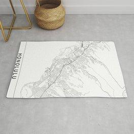Honolulu White Map Rug