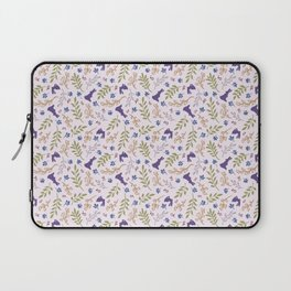 Ditsy Bunnies Amok - Purple Bunnies, Pink Background Laptop Sleeve