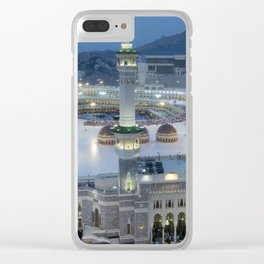 The Hajj is an annual Islamic pilgrimage to Mecca, Saudi Arabia - the holiest city for Muslims Clear iPhone Case