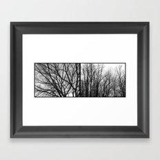 'Winter Trees Diptic 1' Framed Art Print