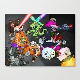 Kill the Robot Duplicates! Canvas Print