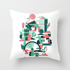 A sunny morning in Milan Throw Pillow