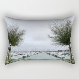 Harbour of Saint-Denis Oleron Rectangular Pillow