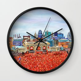 Kansas City Sea of Red Wall Clock