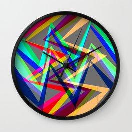 Digital drawing - colors Wall Clock
