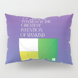 Compound interest is the greatest invention of mankind Pillow Sham