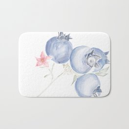 Red White & Blues ・Rustic Blueberries Bath Mat