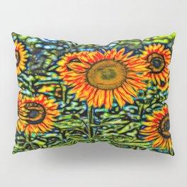 Sunflower Kaleidoscope Pillow Sham