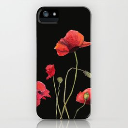 Poppies at Midnight iPhone Case