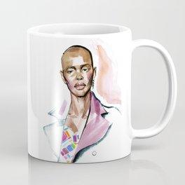 fashion #4. Portrait of a dark-skinned girl in a rose coat Coffee Mug