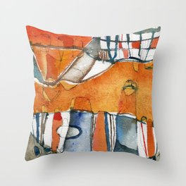 Ciudad Throw Pillow