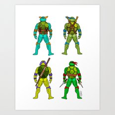 Turtle Butts Art Print