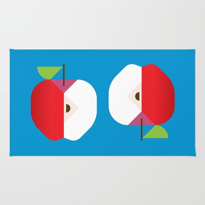fruit: apple rugchristopherdina | society6 Apple Rugs