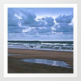 Wild Romo Beach in Denmark Art Print