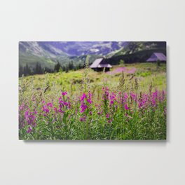 Fireweed In The Mountains Metal Print