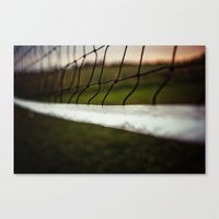 volleyball Canvas Prints featuring Volleyball Net by Jo Bekah Photography