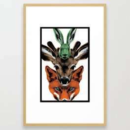 Scandinavian Creatures Framed Art Print