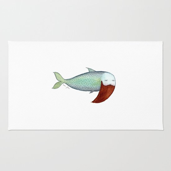 fish with beard Rug
