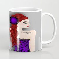 pinup Mugs featuring Pinup by Crzy_Nevaeh_Art