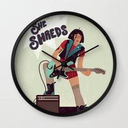 she shreds! Wall Clock
