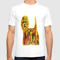 WESTIE White SMALL Mens Fitted Tee