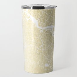 Amsterdam Gold on White Street Map Travel Mug