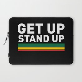 Get Up Stand Up / Rasta Vibrations Laptop Sleeve