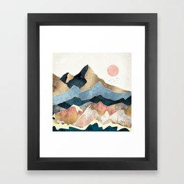 Golden Peaks Framed Art Print