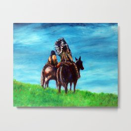 Looking over our domain Metal Print