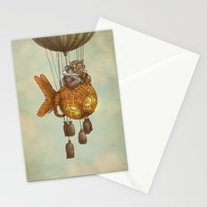 Around the World in the Goldfish Flyer Stationery Cards