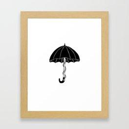 Secret parasol Framed Art Print
