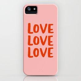 Love Love Love iPhone Case