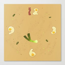 Savory Egg Clock Canvas Print
