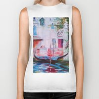 venice Biker Tanks featuring Venice by OLHADARCHUK