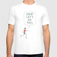 Okay let's do this White MEDIUM Mens Fitted Tee