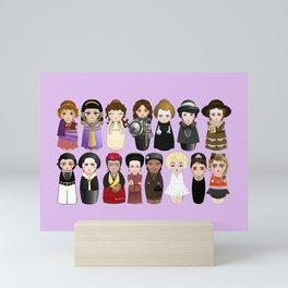 Kokeshis Women in the History 2.0 Mini Art Print