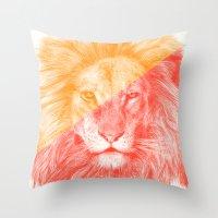 eric fan Throw Pillows featuring Wild 3 by Eric Fan & Garima Dhawan by Garima Dhawan