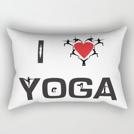 I heart Yoga Rectangular Pillow