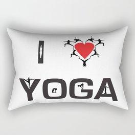 I heart Yoga Rectangular Pillow
