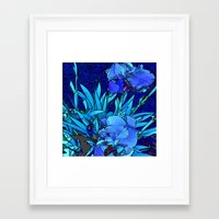 iris Framed Art Prints featuring Iris by lillianhibiscus