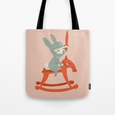 Rabbit Knight Tote Bag