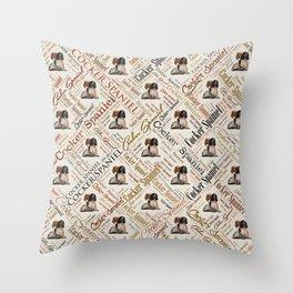 Cocker Spaniel Word Art Throw Pillow