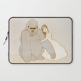 Gorilla and Girl Laptop Sleeve