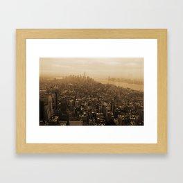 New York Skyline Framed Art Print