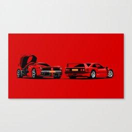 Rosso Corsa Canvas Print