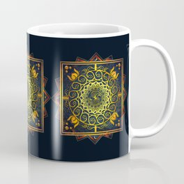 Golden Filigree Mandala Coffee Mug