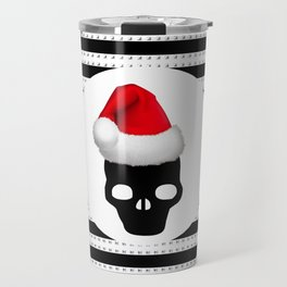 merry christmas santa skull Travel Mug