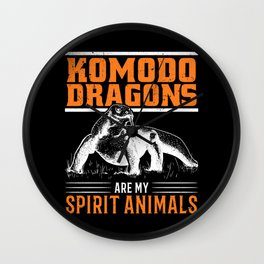 Komodo Dragon Spirit Animal Wall Clock
