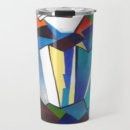 Accordion Player In Cubist Style Travel Mug