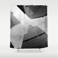 chicago Shower Curtains featuring Chicago by Gold Street Photography